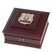 Police Department Medallion Desktop Box