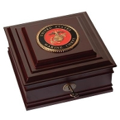 U.S. Marine Corps Medallion Desktop Box