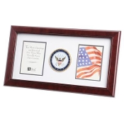 U.S. Navy Medallion Double Picture Frame