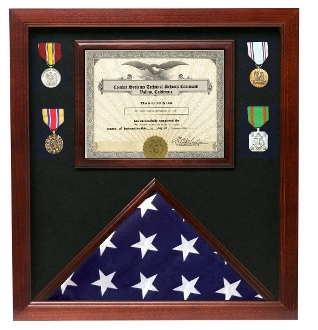 Veterans Made Hardwood Flag and Document Case for American Flags