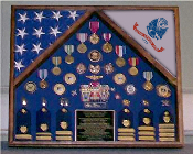 Army 2 Flag Shadow Box/Display Case