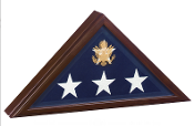 Open Front Flag Display case,For Casket Flag, Cherry Wood