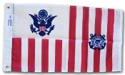 "Coast Guard Ensign Flag 30"" x 48"" Nylon G-Spec USCG Ensign"