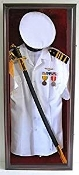 Military Uniform Shadow Box Sword/Gun Display Case