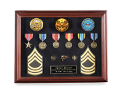Large American Medal frames, Medal Shadow Cases