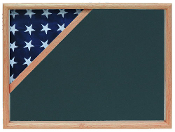 Military Shadow box to hold a 3' X 5' flag