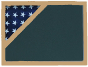Shadow box to hold a 3' X 5' flag , Walnut Finish