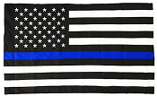 Pointview Flags 3 x 5 Ft Thin Blue Line American Flag (Pole Sleeve) Outdoor DuraSleek Nylon