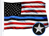 Blue Lives Matter American USA Police Flag