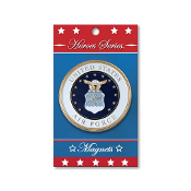 Heroes Series Air Force Medallion Large Magnet - 3.75 Inches