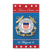 Heroes Series Coast Guard Medallion Large Magnet - 3.75 Inches