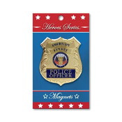 Heroes Series Police Medallion Large Magnet - 3.75 Inches