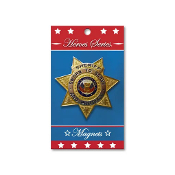 Heroes Series Sheriff Medallion Large Magnet - 3.75 Inches