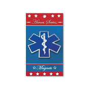Heroes Series EMS Medallion Large Magnet - 3.75 Inches