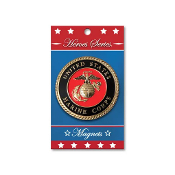 Heroes Series Marine Corps Medallion Large Magnet - 3.75 Inches