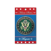 Heroes Series Army Medallion Large Magnet - 3.75 Inches