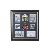 U.S. Marine Corps Medallion 7 Picture Collage Frame with Stars