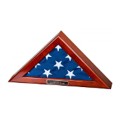 Flag Display Case for 4x6 flag - Walnut Finish