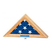 Flag Display Case for 4x6 flag - Oak Finish