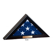 Flag Display Case for 4x6 flag - Black Finish