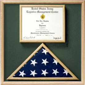 Flag and certificate Combination Box - Flag / Certificate Display,Flag and Certificate Display Case