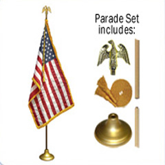 U.S. Parade Podium Flag Sets