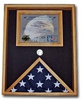 Military Flag and Certificate Case