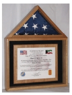 Certificate and American Flag Display Case