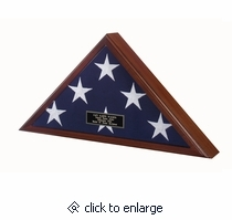 The Memorial flag case is ideal for those concerned with affordability and simplicity. This flag case features a glass front, removable back panel with turn-button closures, and is wall mountable.
