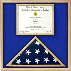 marine Corps  Flag and certificate Display case
