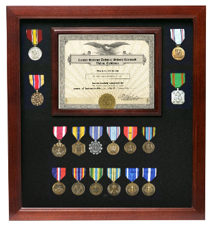 Flag Document Display Case, Wood,Made By Veterans