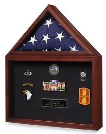 Air force Flag and medal display box- Shadow Box