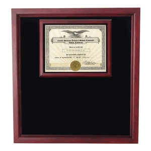 large certificate shadowbox