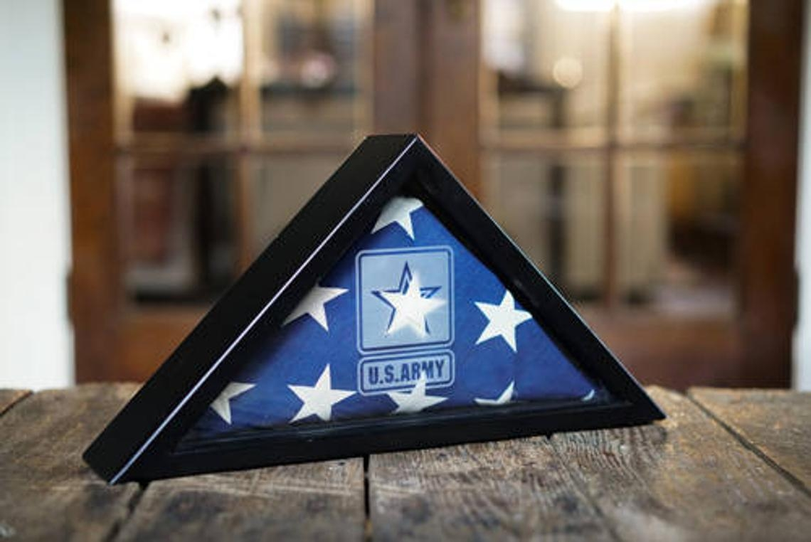 Military Logo flag case, Military flag cases,  Personalized Military Frames